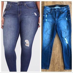 Torrid Sky High Skinny Distressed Jeans 12R
